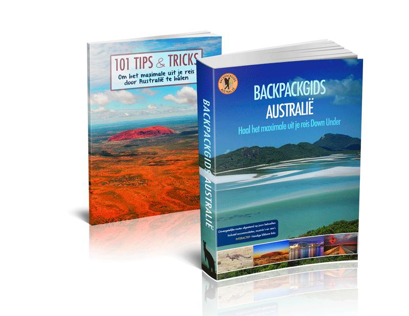 Backpackgids Australië review. Foto van de boeken.