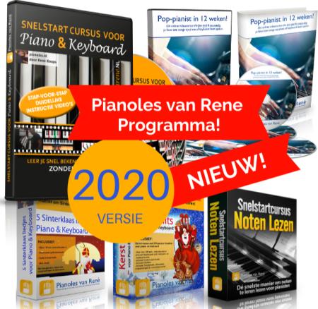 Foto van het cursus pakket van Pianoles van René.