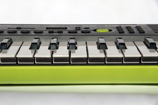 Foto van een keyboard klavier