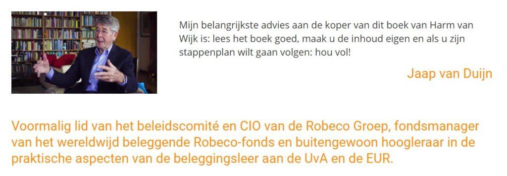 In 10 stappen succesvol beleggen review. Foto van Jaap van Duijn.