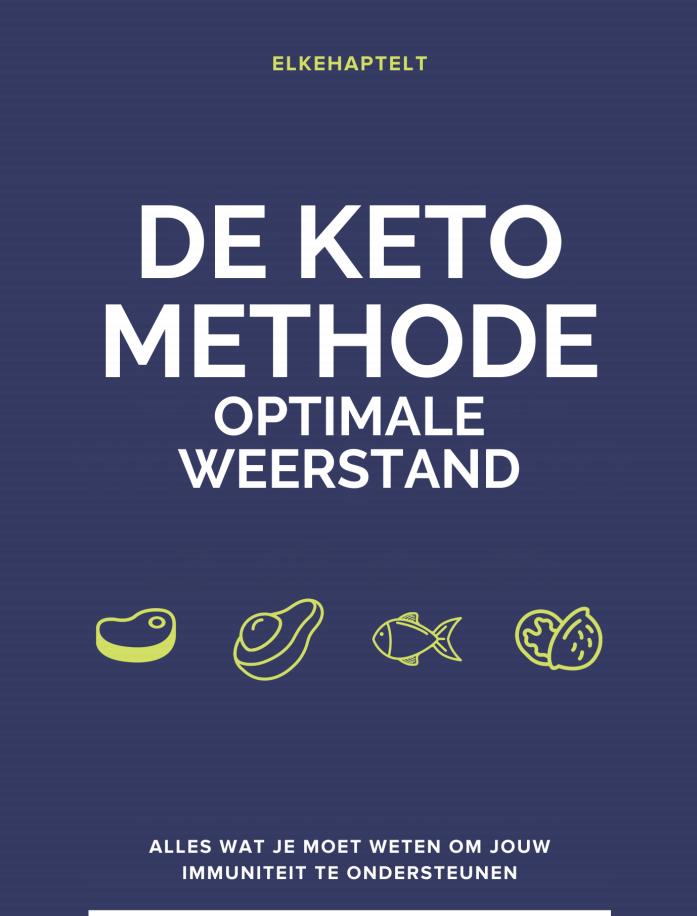 De Keto revolutie. Foto van de cover van het e-book.