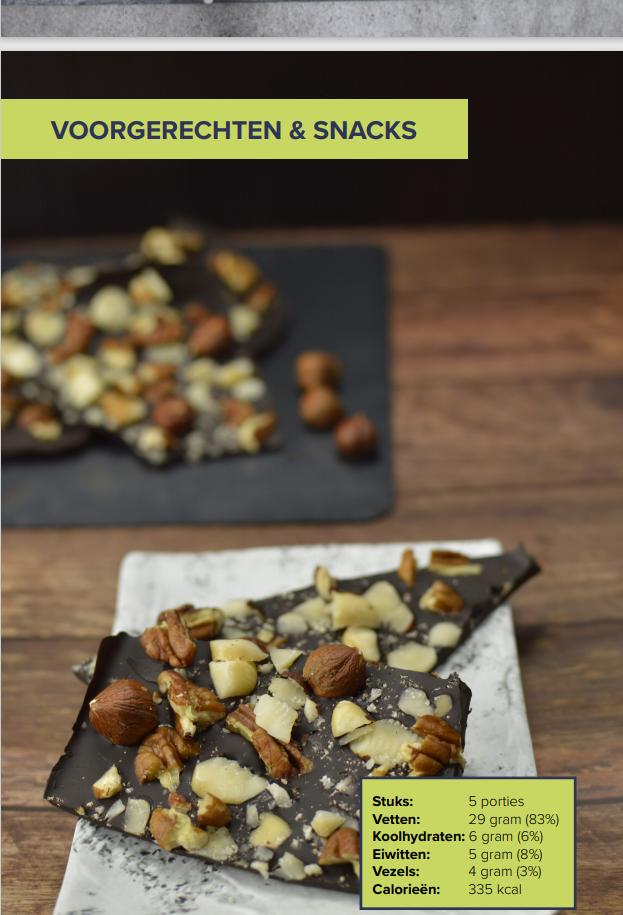 De Keto Revolutie. Foto van een recept met chocolade.