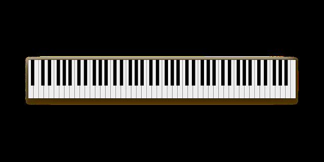 Foto van een piano klavier